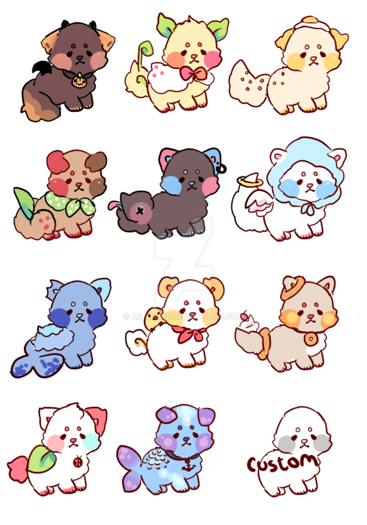 Kawaii clipart puppy. Adopts open by milkpore