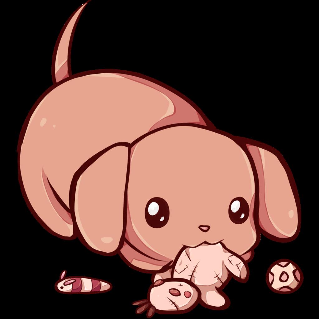 Kawaii clipart puppy. Dachshund by dessineka on