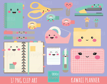 Planner clipart kawaii.  sale school supplies