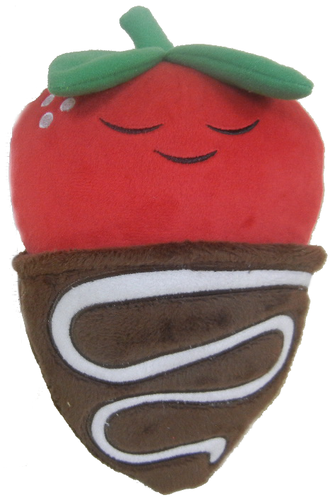 Strawberries clipart cute. Plush chocolate covered strawberry