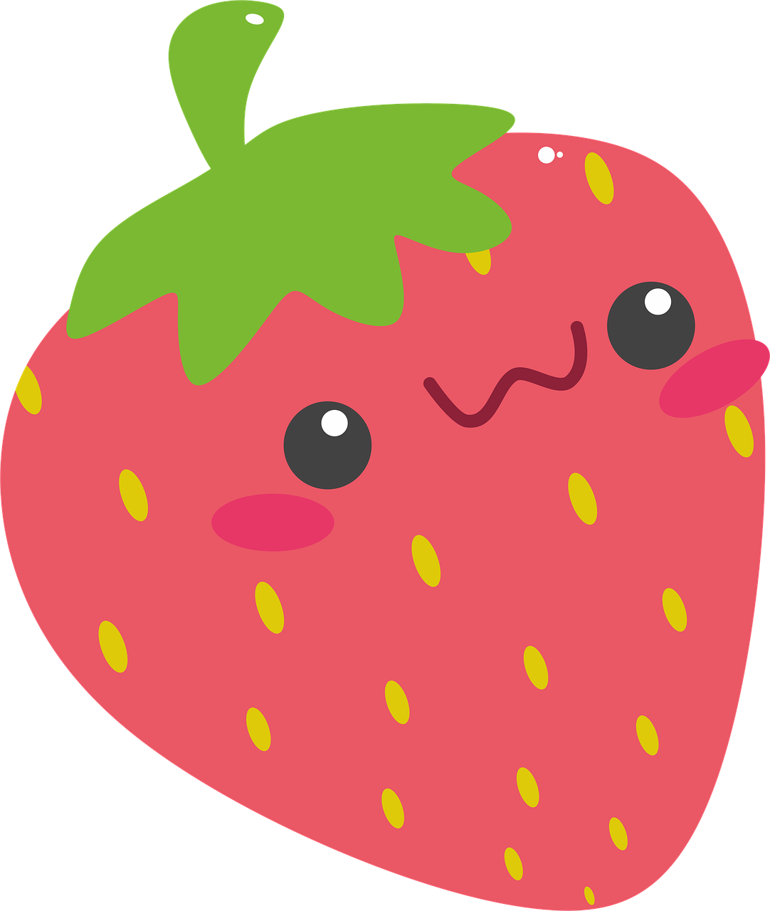 Strawberry red rosa network. Strawberries clipart kawaii