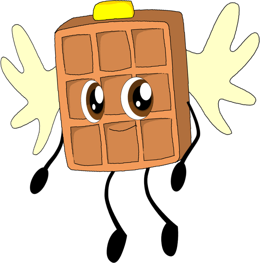 Waffle clipart kawaii. Art trade by coulden