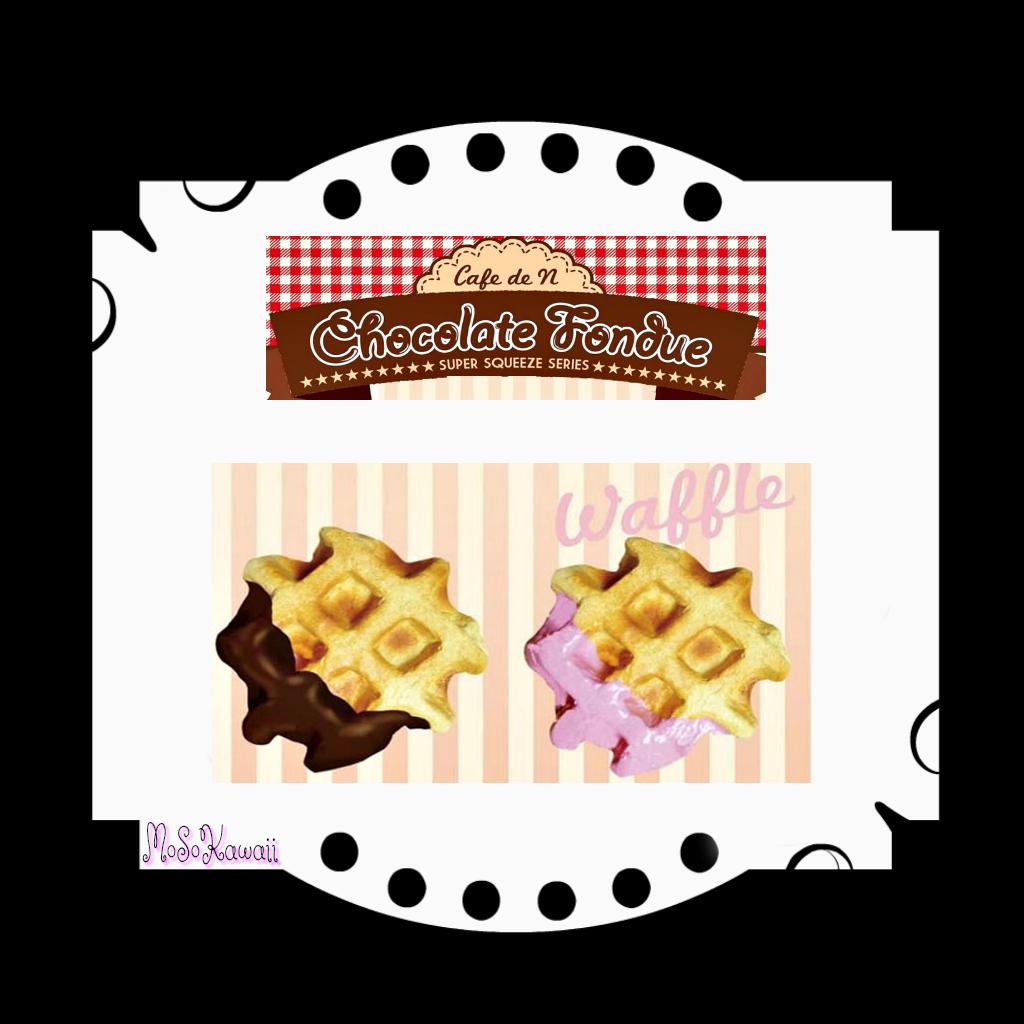 Cafe de n fondue. Waffle clipart chocolate waffle