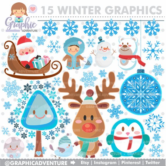 Graphics commercial use kawaii. Winter clipart accessory