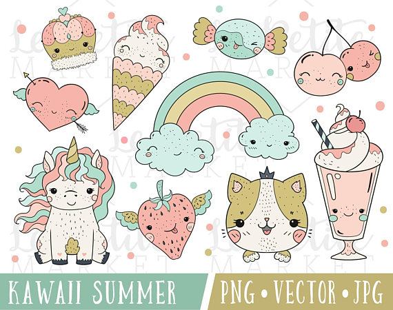 For planner stickers digital. Kawaii clipart