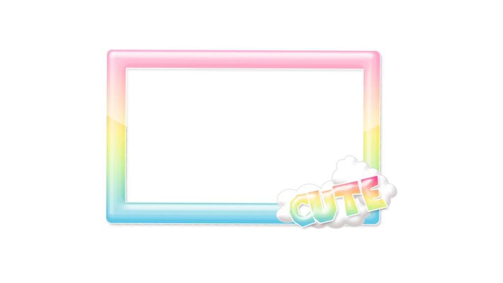 Rainbow by cutienova on. Kawaii frame png