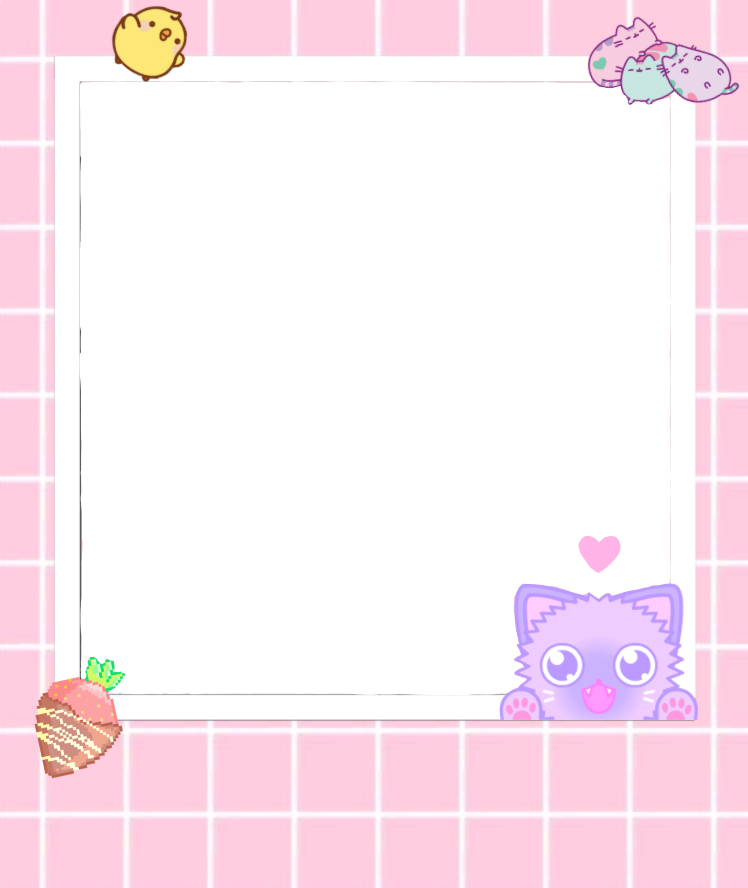 Kawaii frame png. Cute marco pink tierno