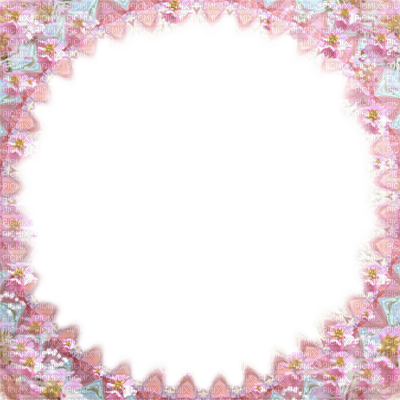 Soave circle flowers transparent. Kawaii frame png