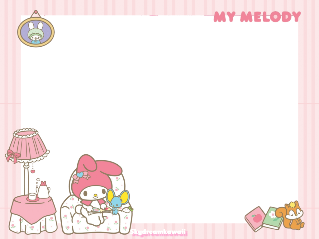 Kawaii frame png. My melody by skydreamkawaii