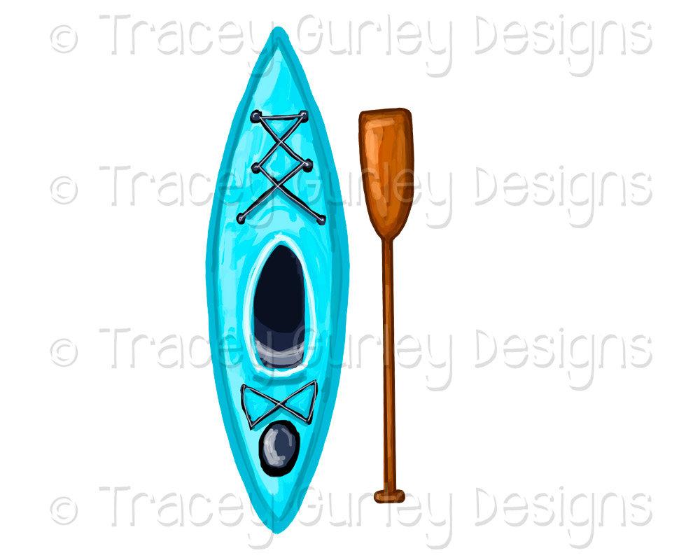 Turquoise oar lake sports. Kayak clipart clip art