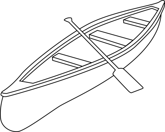 Canoe free clip art. Kayaking clipart coloring page
