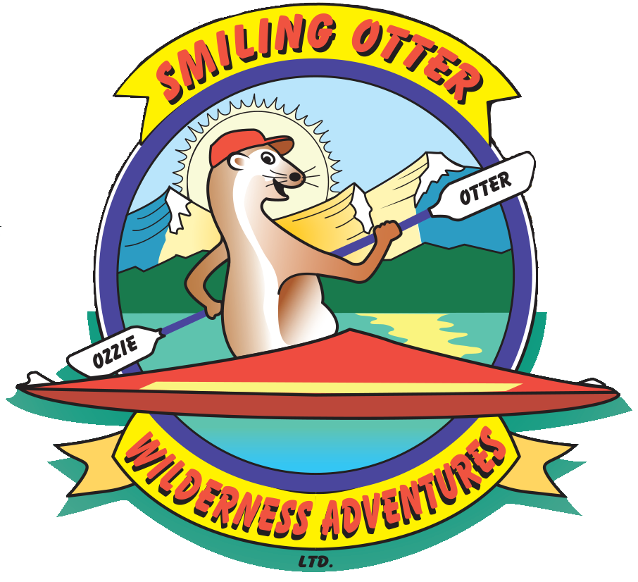 Smiling otter wilderness adventures. Parking lot clipart crowded road