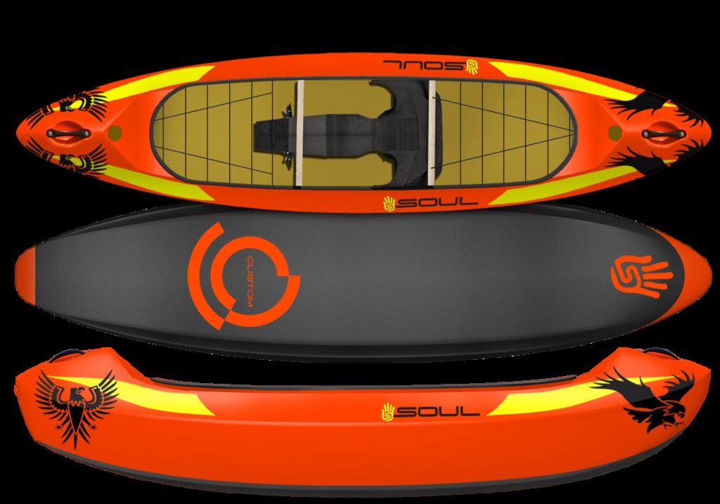Kayak clipart red kayak. Custom kayaks soul waterman