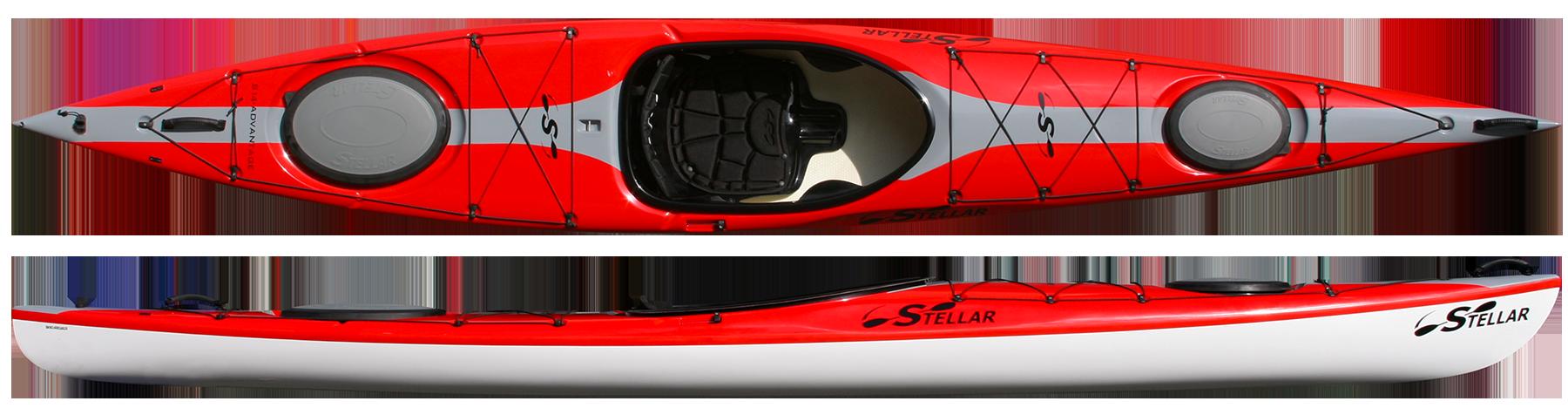 Stellar touring s kayaks. Kayak clipart red kayak