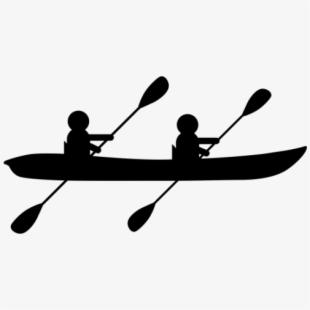 Canoe icon free . Kayaking clipart tandem kayak