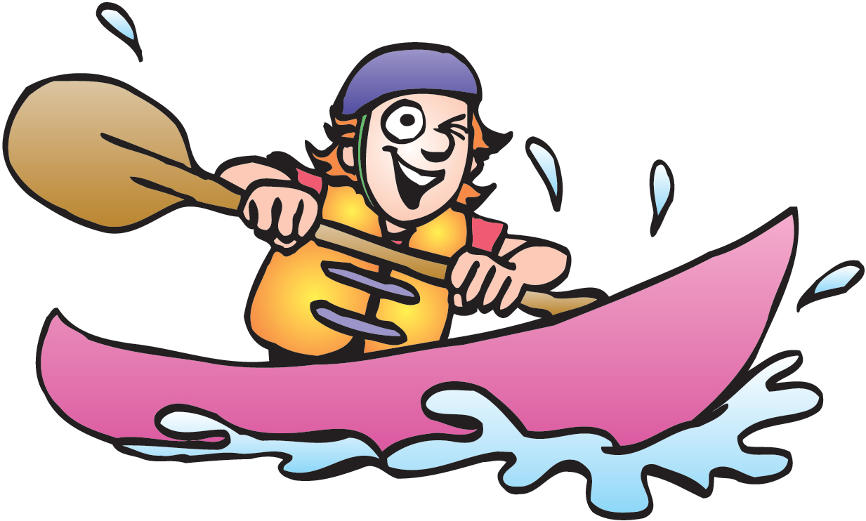 Kayak clipart canoe trip. Free kayaking cliparts download
