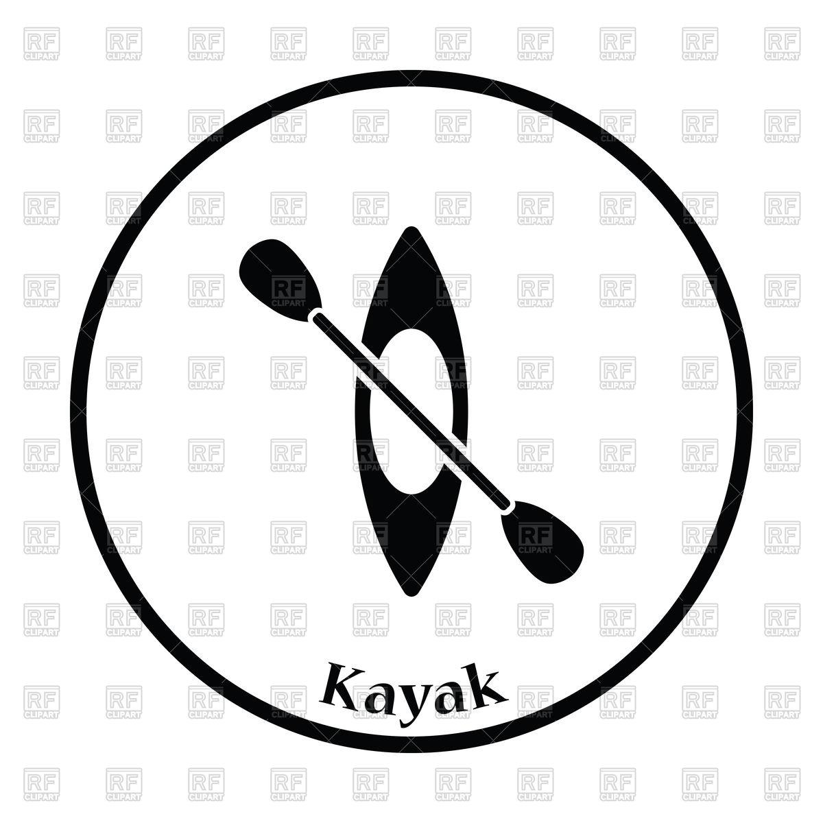 Kayak free download best. Kayaking clipart icon