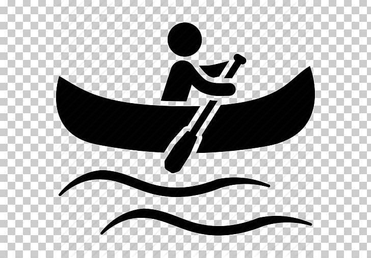 Kayaking clipart icon. Canoeing paddling kayak computer