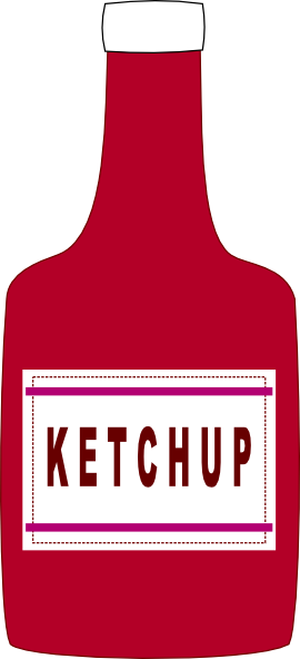 Bottle clip art at. Ketchup clipart