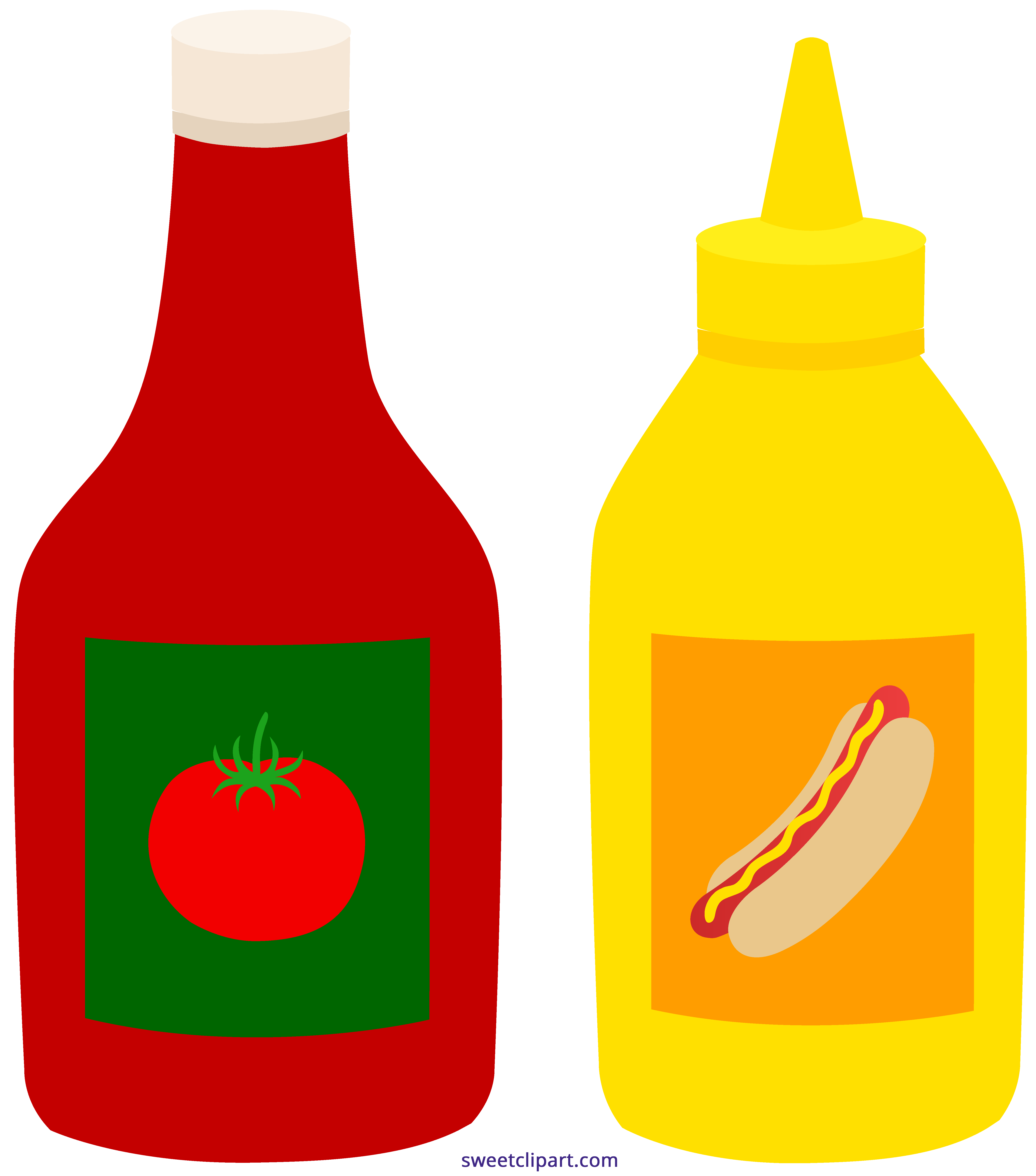 Clipart science bottle. Ketchup mustard bottles sweet