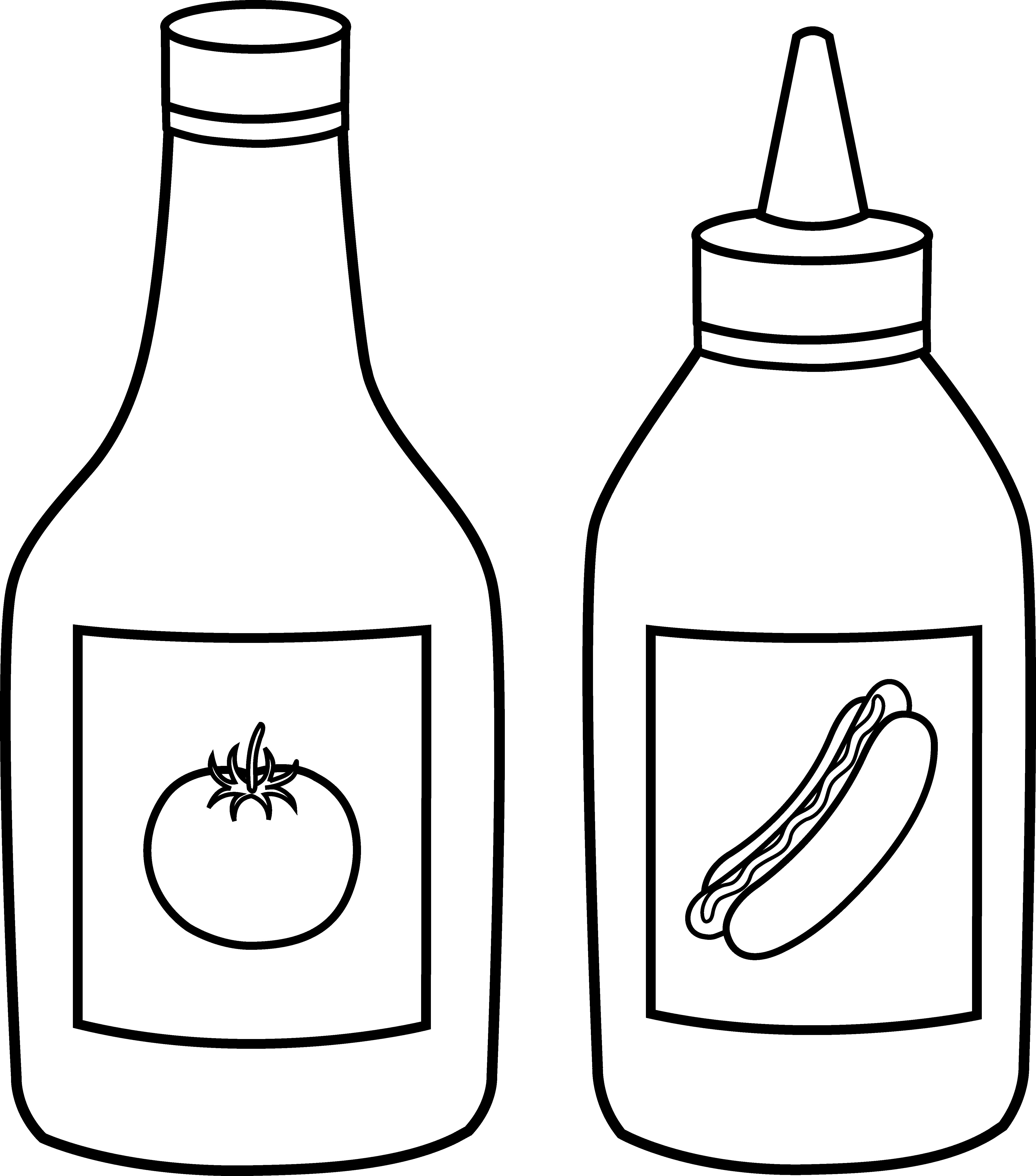 Tomatoes clipart gambar. Ketchup and mustard line