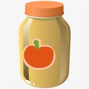 Tomato sauce glass food. Ketchup clipart jar