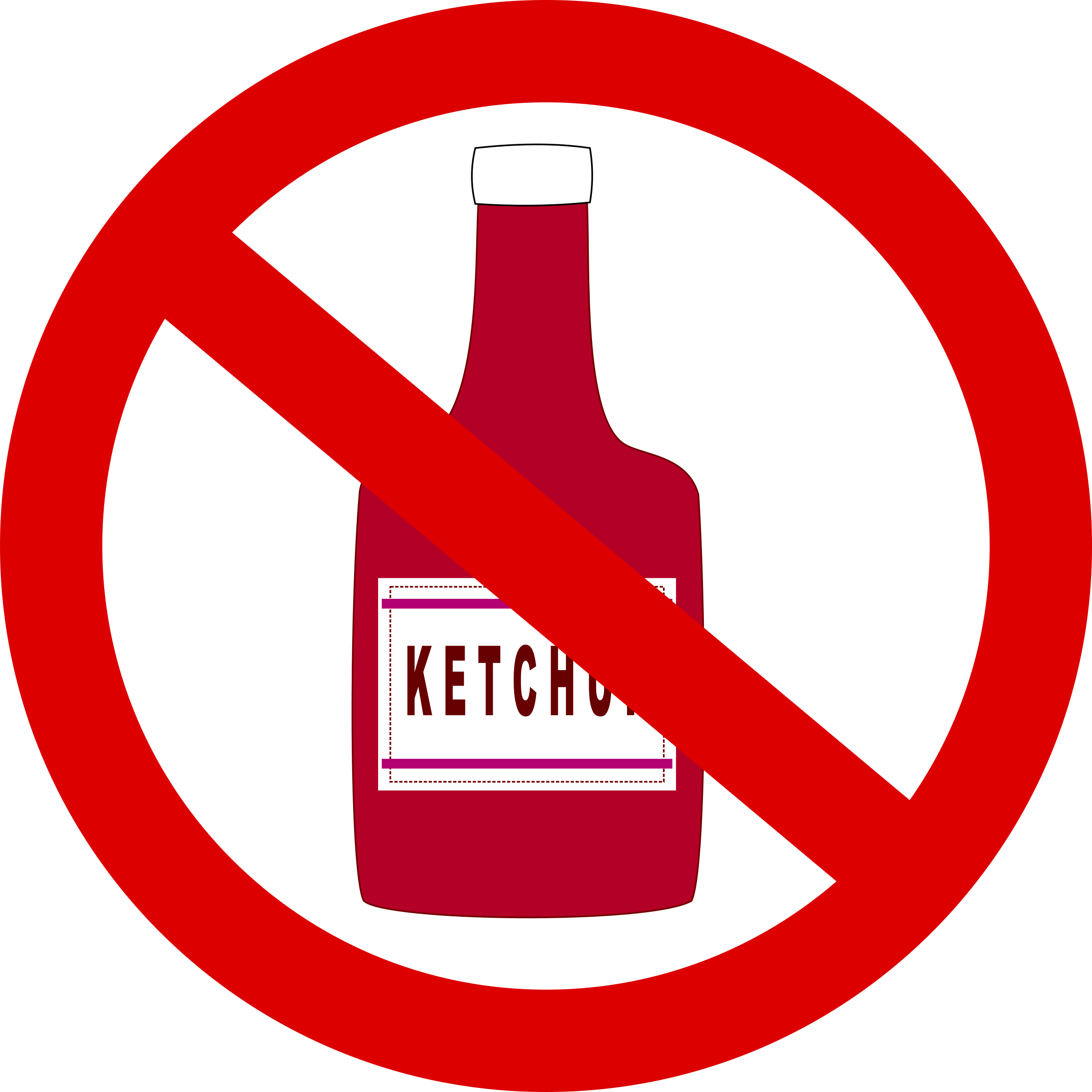 Forbidden big image png. Ketchup clipart small