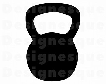 Kettlebell clipart. Etsy svg weights files