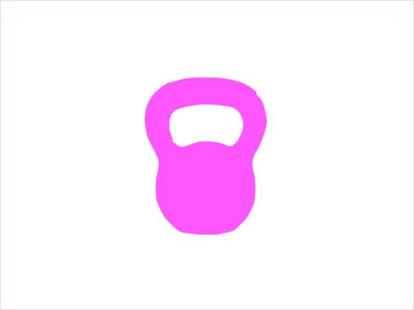 Kettlebell clipart pink. Clip art at clker