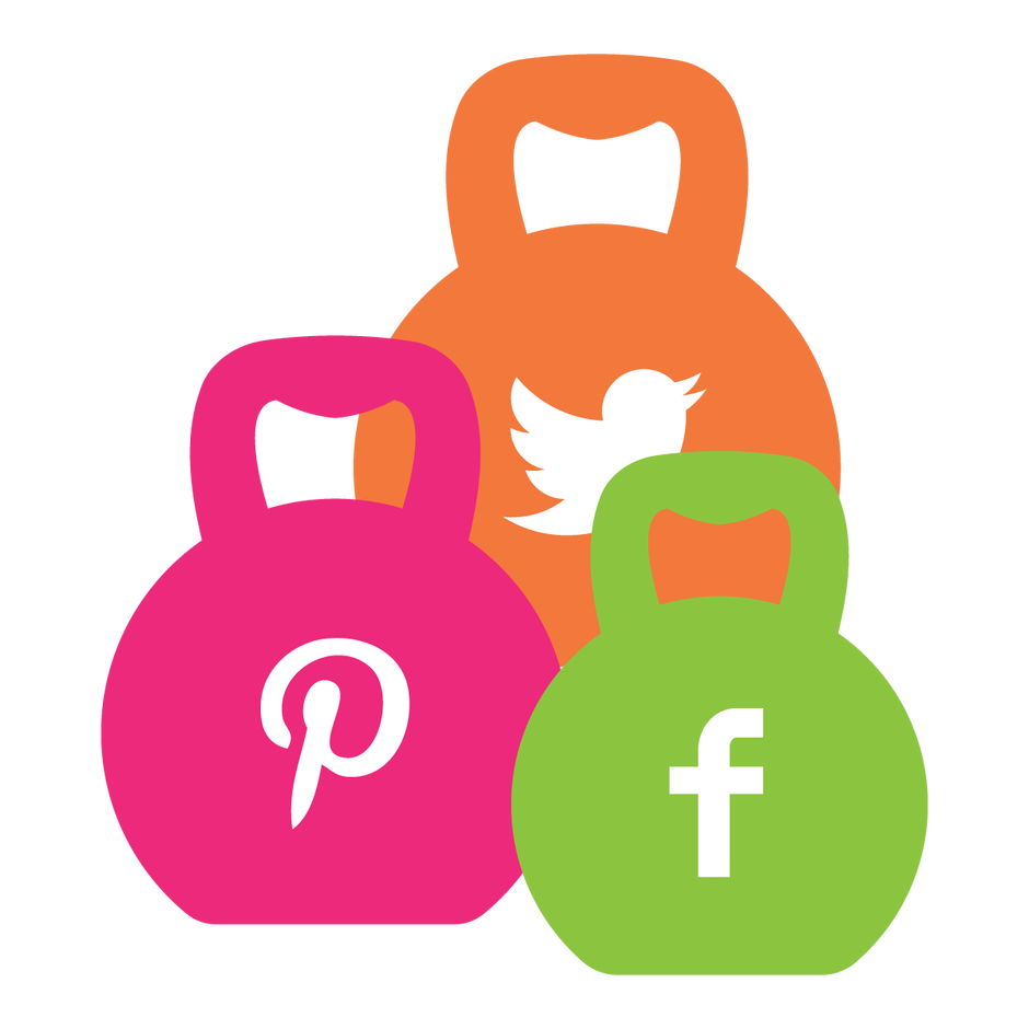 Kettlebell clipart pink. Develop your marketing muscles
