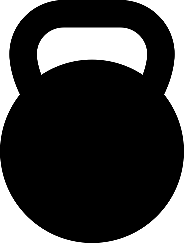 Kettlebell exercise equipment dumbbell. Weight clipart large