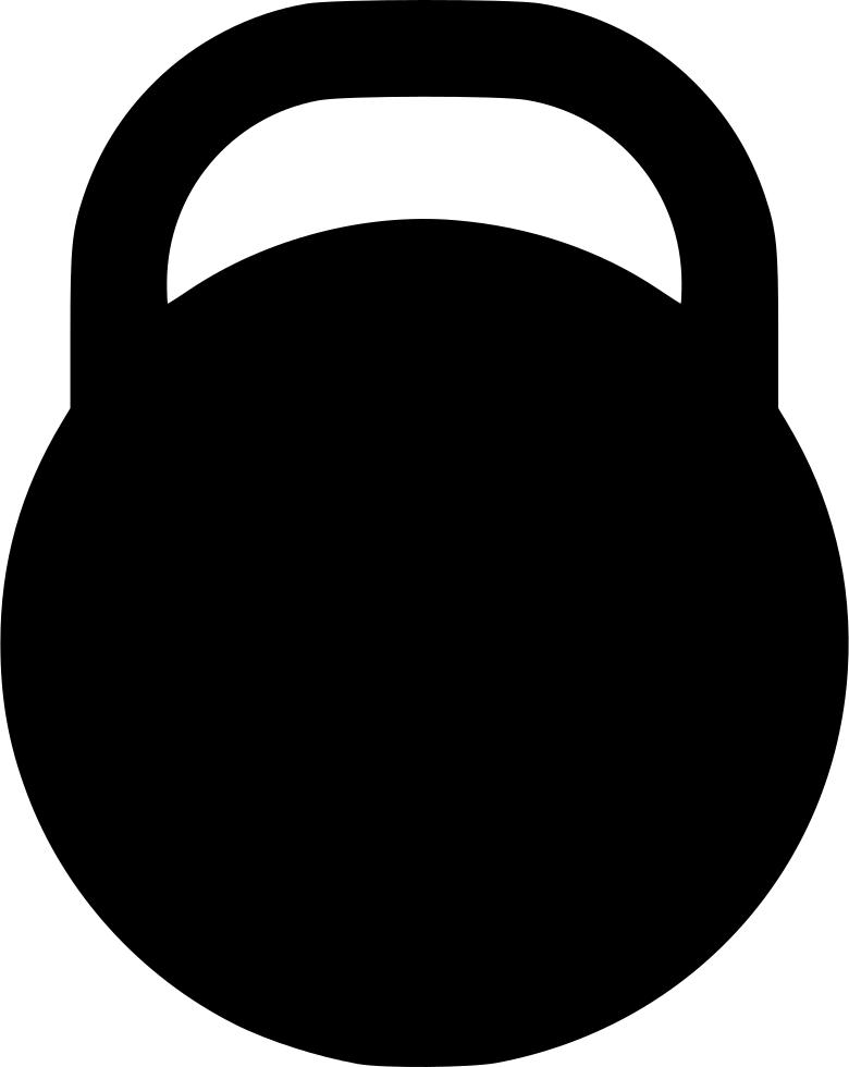Steel ball heavy svg. Kettlebell clipart weight
