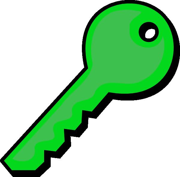 Green clip art at. Key clipart
