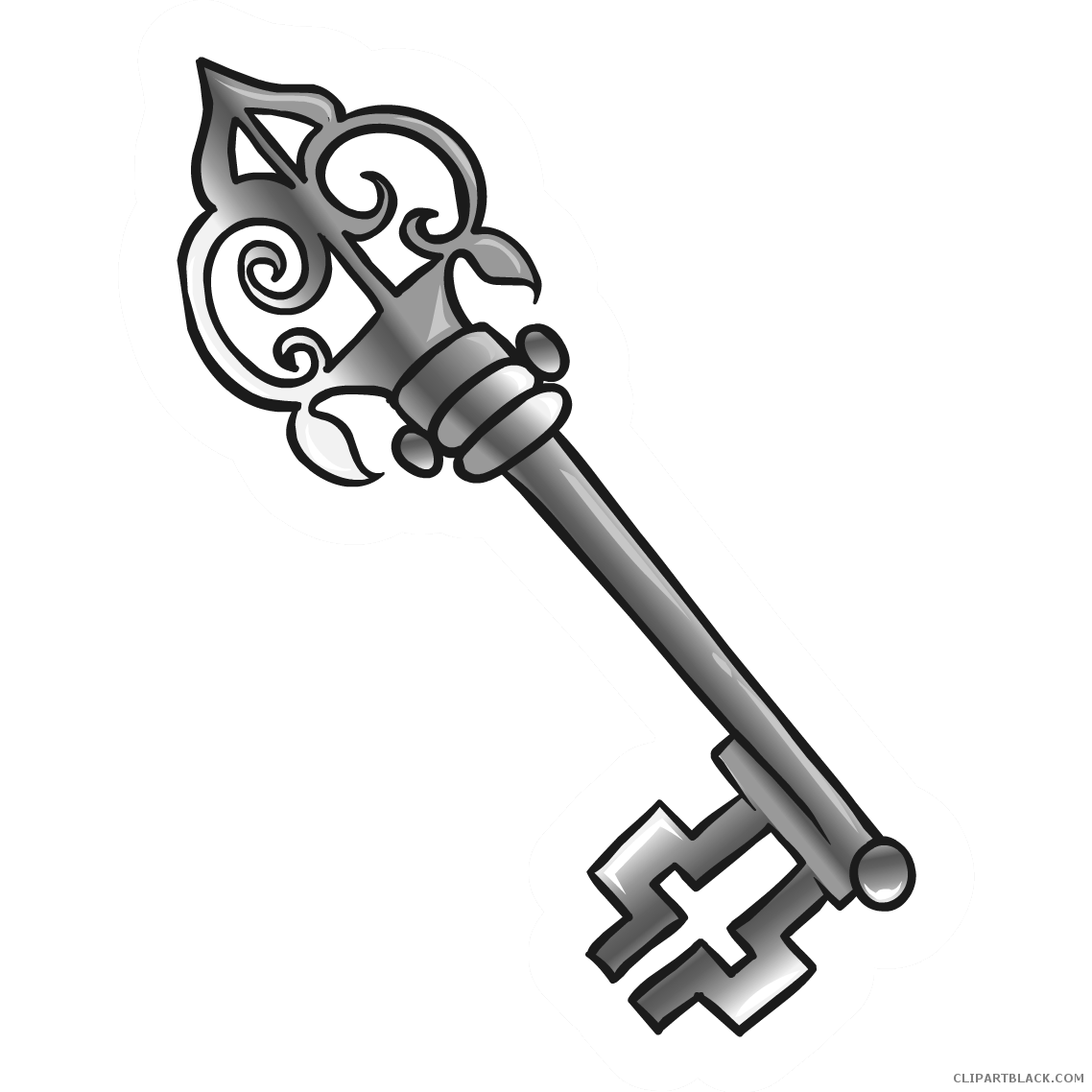 Keys clipart pretty. Old key clipartblack com