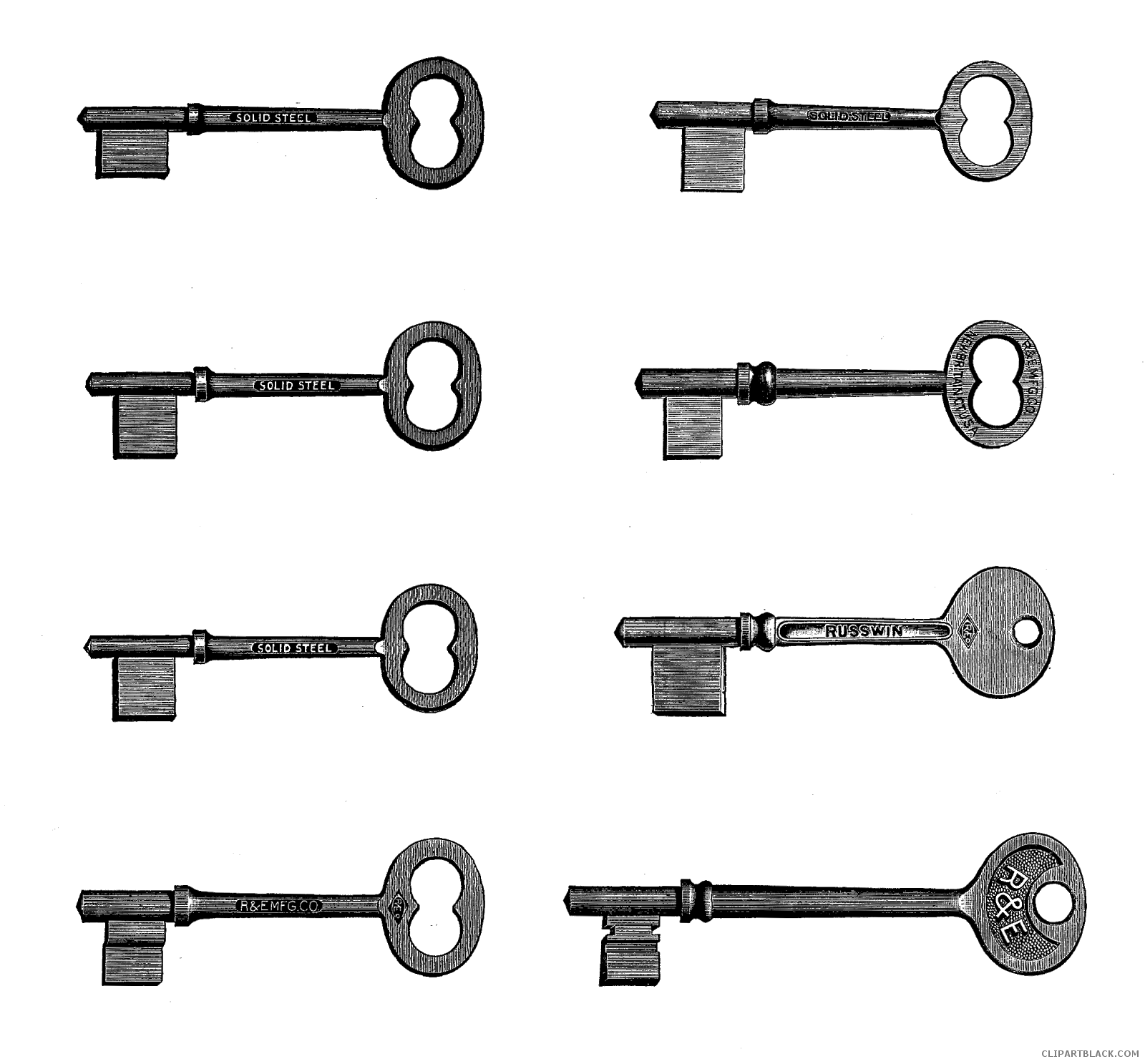 Key tools free images. Keys clipart black and white