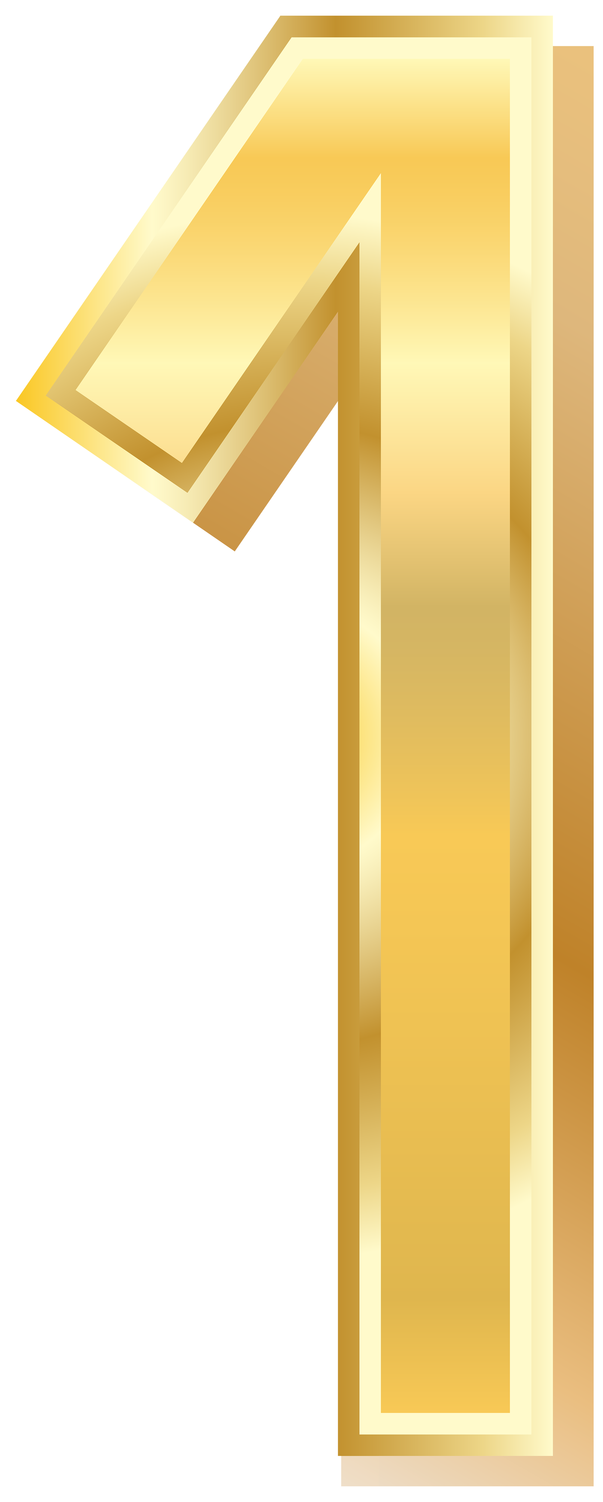 Number 1 clipart yellow. Gold style one png