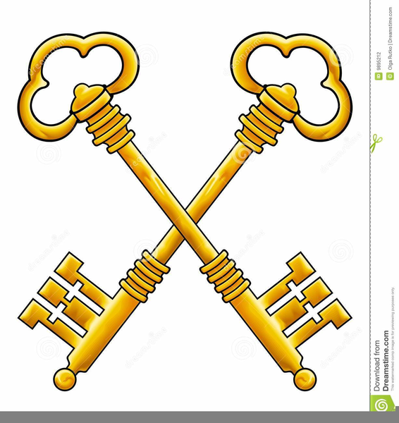 Key clipart crossed key. Keys free images at