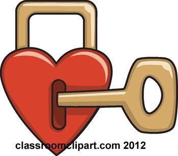 Heart lock clipartbarn . Key clipart kid