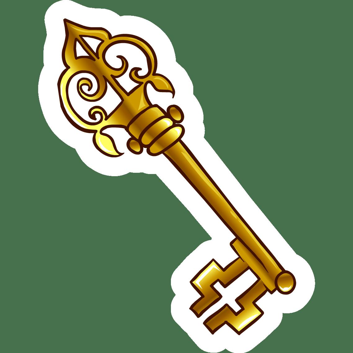 Keys clipart old fashioned. Gambar key gold pencil