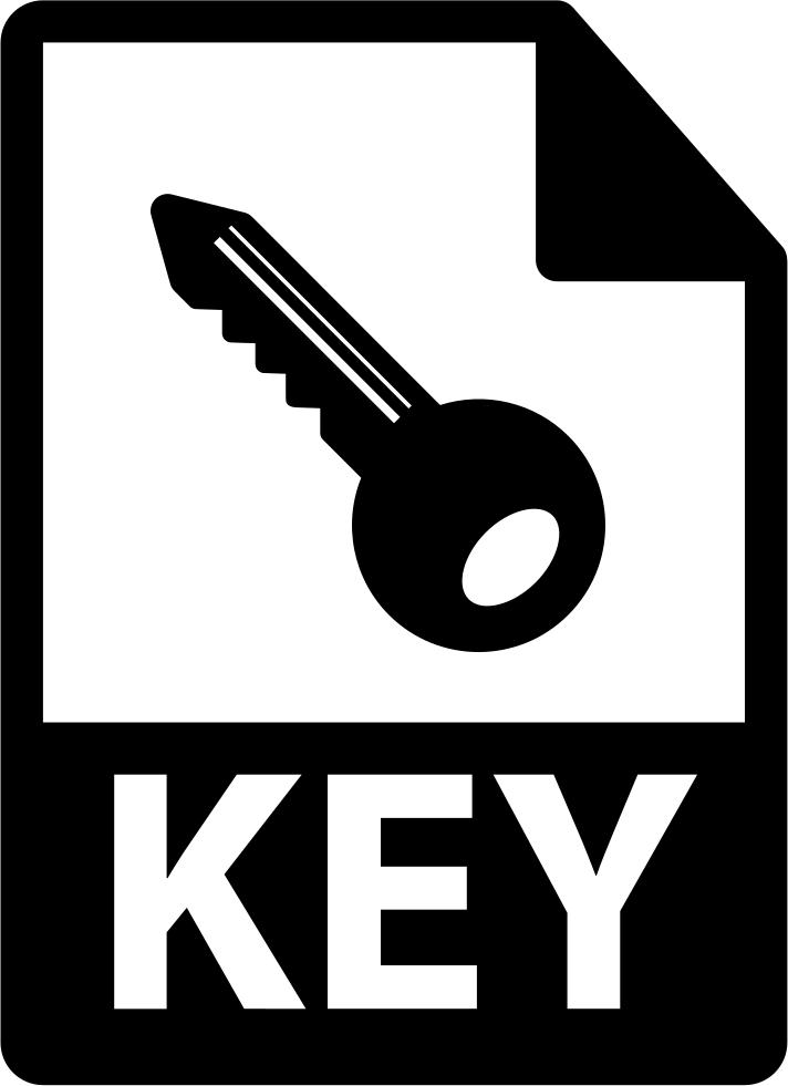 Key file format variant. Keys clipart gothic