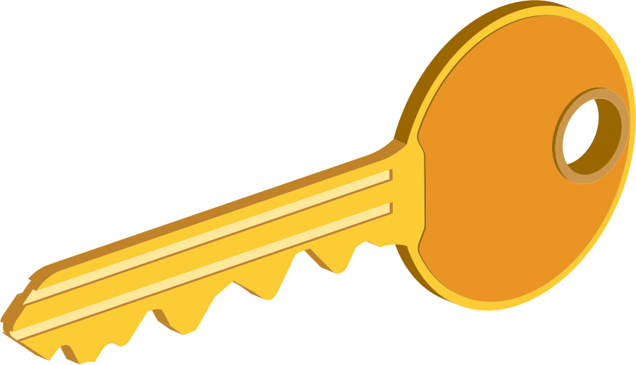 Big image png. Key clipart yellow