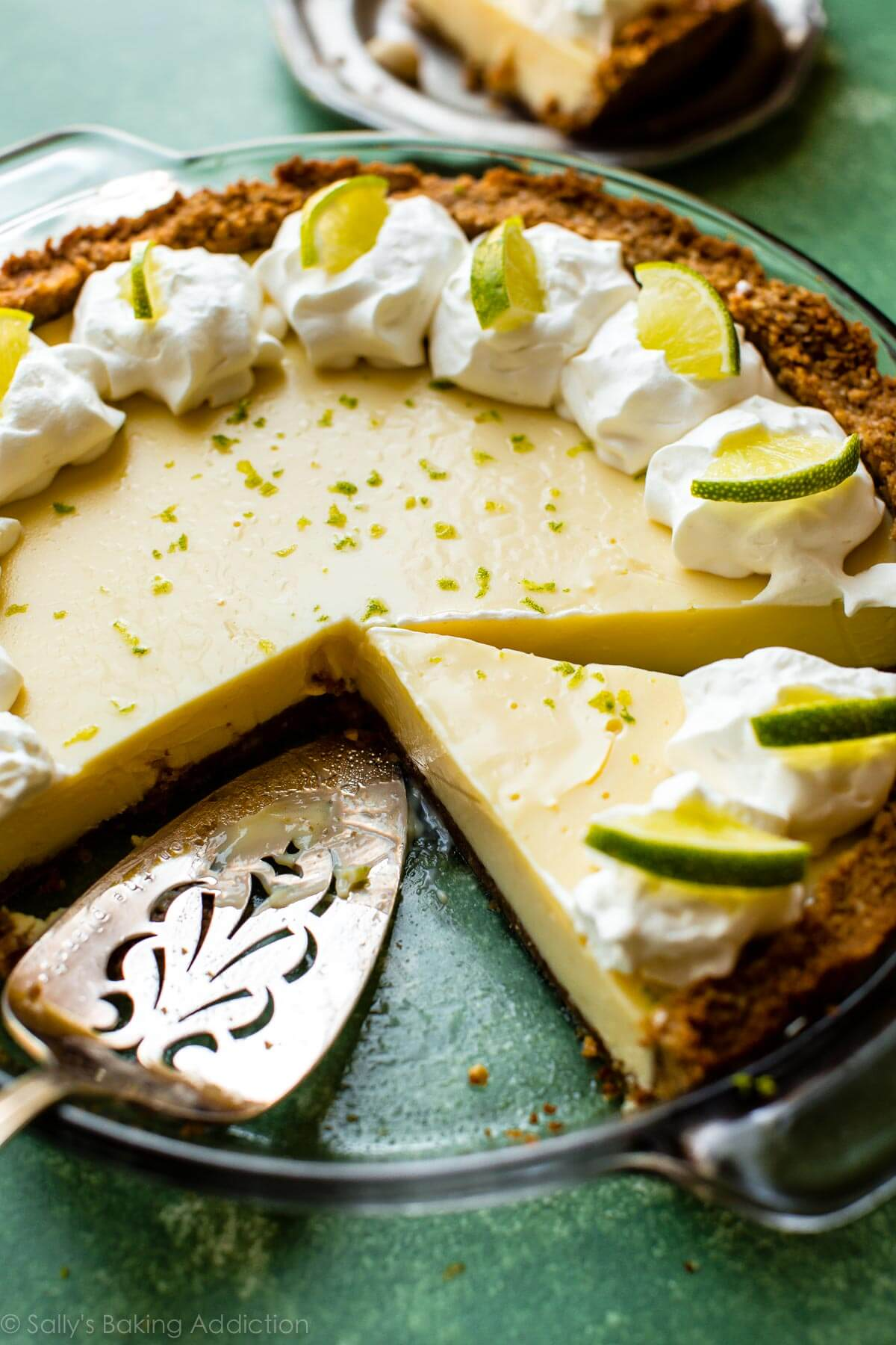 Key Lime Pie. With macadamia nut crust