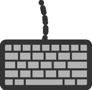 Keyboard clipart. Clip art at clker