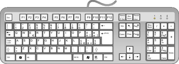 Keyboard clipart. Computer