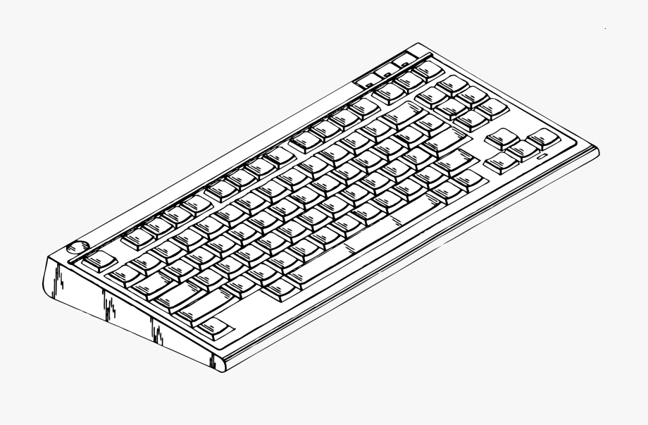 Computer clip art image. Keyboard clipart big