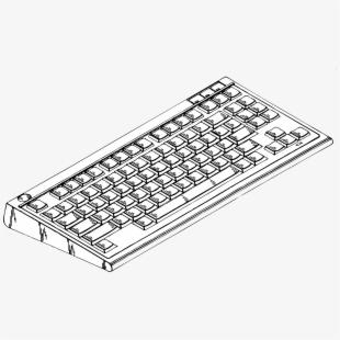 Keyboard clipart big. Computer clip art image