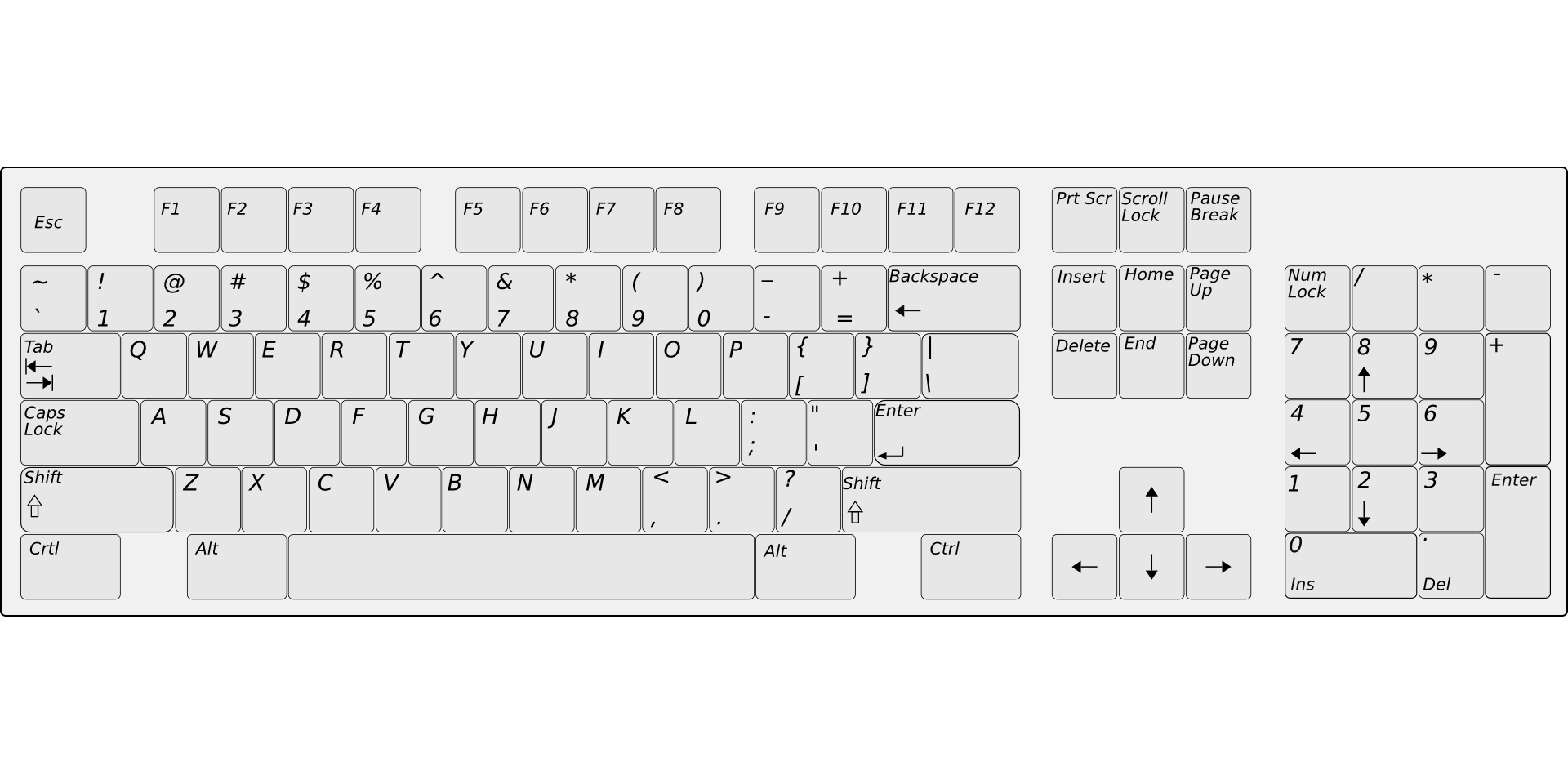 Keyboard clipart computer keypad. Laptop delete key input