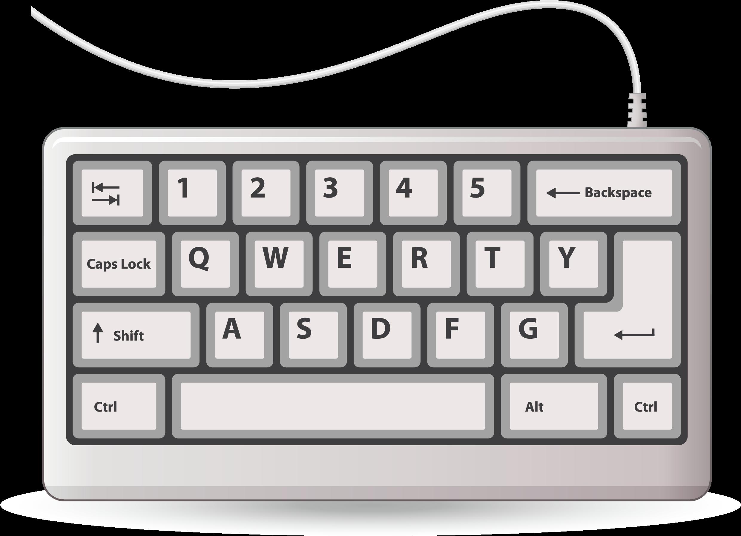 Typewriter keys png clip. Keyboard clipart computer keypad