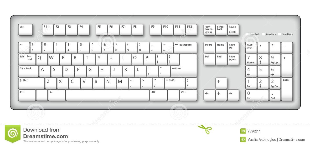 Look at clip art. Keyboard clipart computer keypad
