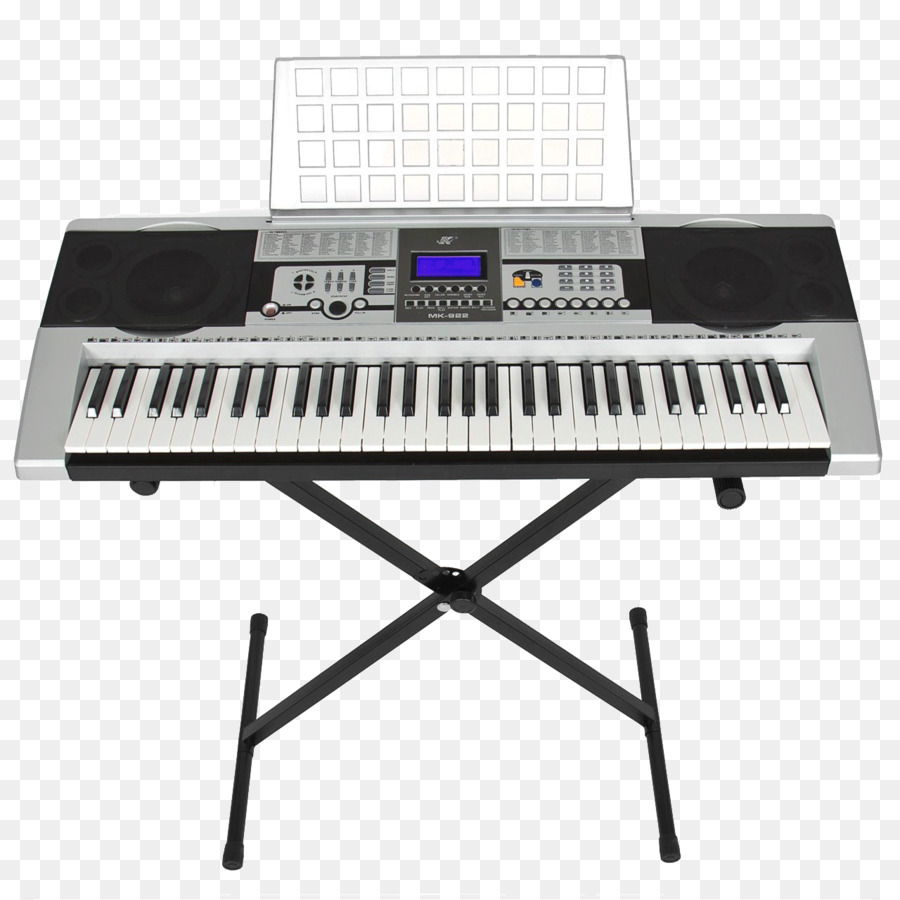 Cartoon keyboard key transparent. Piano clipart electric